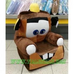 Pluszowy Fotel rozkładany AUTO