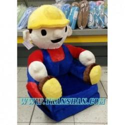 Pluszowy Fotel rozkładany BOB