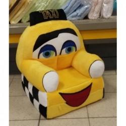 Pluszowy Fotel rozkładany TAXI