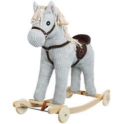 Koń na biegunach z kołkami...